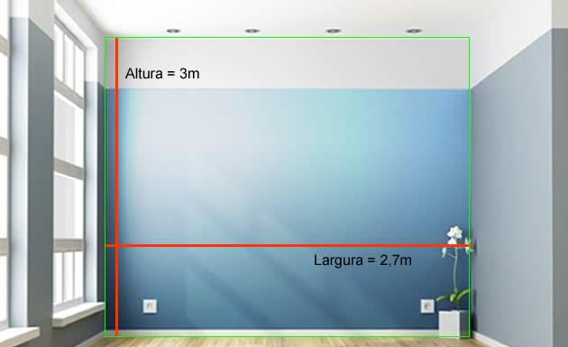 Como calcular o metro quadrado de uma parede for Sala de 9 metros quadrados