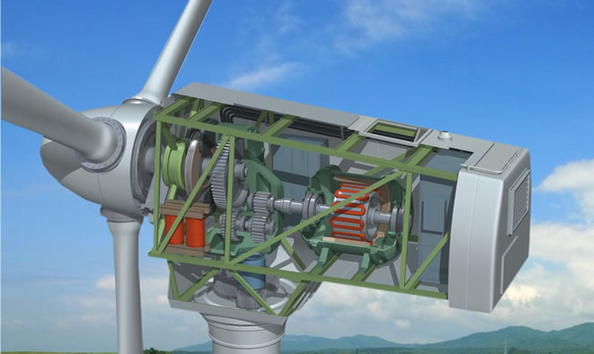 0a3499be5b8 O gerador é a parte principal responsável pela energia eólica produzida