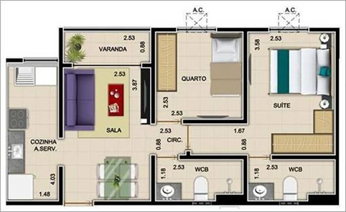 Como calcular o metro quadrado m for Sala de 9 metros quadrados